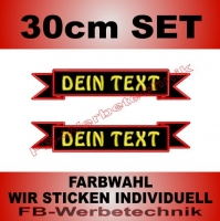 Grosse Schleifen 2er SET 30cm Patches S03 Gerade